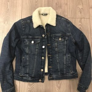 New H&M Sherpa Jean Jacket